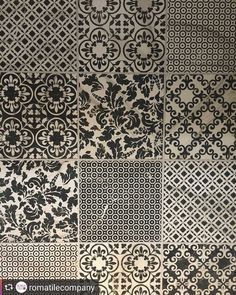Deco tiles in all sorts of patterns. #teamcapozza #repost @romatilecompany #deco #modern #bold #addictedtotile #tileaddiction #tilegeeks