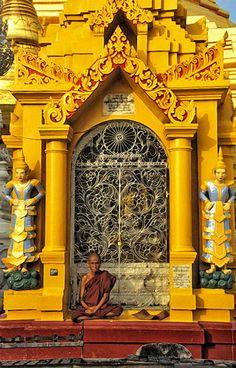 Monk at Shwadegon Myanmar / Burma