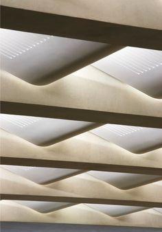 Laboratory / Stanton Williams Sainsbury Laboratory by Stanton Williams.Sainsbury Laboratory by Stanton Williams. Ceiling Detail, Ceiling Design, Wall Design, House Design, Light Architecture, Architecture Details, Interior Architecture, Contemporary Architecture, Interior Design