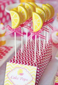 lemon wedge cake pops