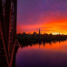 """""""This let's walk across Fredericton's Old Train Bridge & look back to see the sunset light up the sky. My Dream Came True, New Brunswick, East Coast, Sunrise, Beautiful Places, Ocean, Instagram Posts, Travel, Outdoor"""