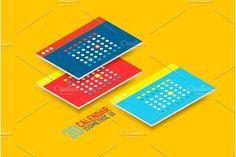 Isometric user interface design. Infographic Elements