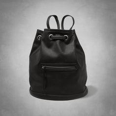 Womens Vegan Leather Bucket Bag | Womens New Arrivals | Abercrombie.com