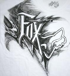 Fuchs – Tattoo's – Fuchs – Tattoos – Dirt Bike Tattoo, Motocross Tattoo, Fox Motocross, Bike Tattoos, Fox Racing Tattoos, Fox Racing Logo, Fox Logo, Fox Tattoos, Skull Tattoos