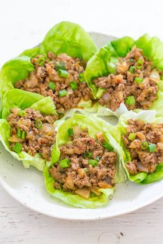 P.F. Chang's Chicken Lettuce Wraps {Copycat Recipe} - Skip the restaurant version and make at home in 20 minutes!! EASY, healthier because you're controlling the ingredients, and they TASTE WAY BETTER!!