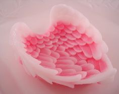 Pink Sugared Angel Wings 12oz angel wings  all by pamperedmoments, $6.25