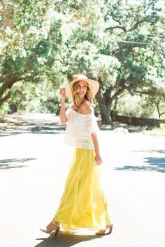 Amelia Full Yellow Maxi Skirt | Morning Lavender