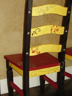 Whimsical Painted Wooden Chairs | Whimsical+Painted+Chairs | Whimsical Design - Painted Furniture