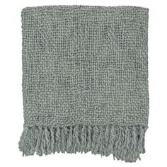 """Showcasing a fringe trim and cool palette, this classic woven throw adds a cozy finishing touch to your bed or sofa.    Product: ThrowConstruction Material: Acrylic and woolColor: GrayFeatures: Fringe trimDimensions: 51"""" x 71""""Cleaning and Care: Blot spills with a damp cloth. For larger stains, professional cleaning recommended."""