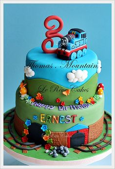 Thomas and friends- Perfect for my Nephew's 2nd birthday (he loves trains!) @Amanda Lalicker check this out!
