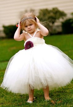 tutu flower girl dress!