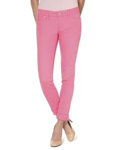 Love these pink skinny jeans!