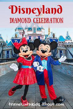 Mickey Mouse and Friends Sport Sparkling Garb for the Disneyland Resort Diamond Celebration - Disney Insider Walt Disney, Cute Disney, Disney Magic, Disney Parks, Disney Travel, Disney Cruise, Parc Disneyland, Disneyland Vacation, Disneyland California