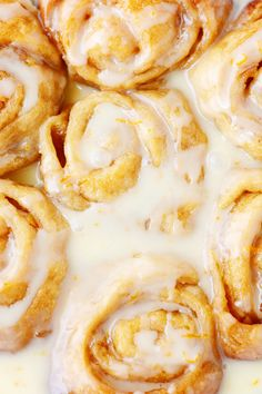 Make these Orange Sweet Rolls are made in a Crock-Pot for an ULTRA soft and gooey bun!! Plus you can keep them warm in the Crock-Pot so they always taste fresh out of the oven.