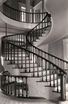 Interior, Central Staircase, Old Stone Capitol Building in Iowa, Iowa City