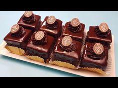 Prajitura Amandina exact ca la cofetarie (amandine cu glazura crocanta si lucioasa de fondant) - YouTube