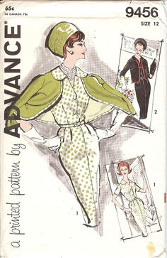 Advance 9456 Pattern  1960's Misses' and Woman's Dress and Jacket  Pattern ID507