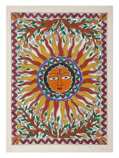 Mixed Media Art Auctions – Buy Abstract Art Right Madhubani Art, Madhubani Painting, Internet Art, Indian Folk Art, Online Painting, Painting Art, Art Paintings, Buy Art Online, Art Background