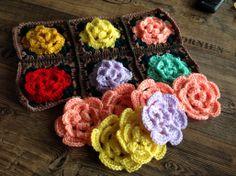 Häkelblüten für ein Kissen