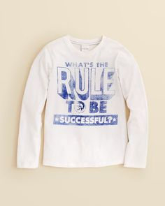 Diesel Boys' What's the Rule to Be Successful Tee - Sizes 8-16