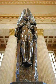 """Angel of the Resurrection"" World War ll Memorial Philadelphia 30th station"