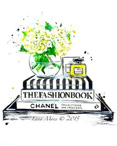 Chanel Fashion Love Art Print from Original Watercolor by LanasArt