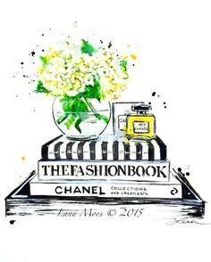 Chanel+mode+inspiré+de+l'amour+Art+Print+Original+par+LanasArt