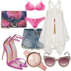 Pinky #fashion #mode #look #outfit #style #stylaholic #sexy #dress