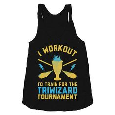 I Workout To Train for the Tri Wizard by stridefitnessapparel, $22.00