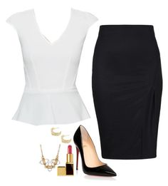 Felicity Smoak Inspired Outfit by daniellakresovic on Polyvore featuring polyvore fashion style Christian Louboutin Tom Ford clothing