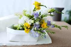 The freesia symbolises unconditional love and innocence.