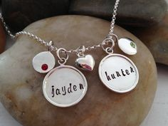 Classy Mom/Grandma hand stamped necklace by thecharmedwife on Etsy, $70.00