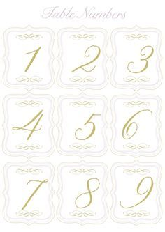 FREE PRINTABLE | Table numbers and mini flags to pump up the romantic, stylish vibe of your wedding day! | The Knotty Bride™ Wedding Blog + Wedding Vendor Guide