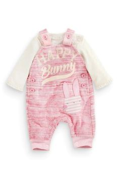 Buy Pink Bunny Dungarees And Bodysuit (0-18mths) online today at Next: United States of America