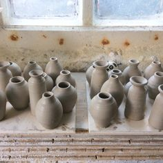 From wee bogles to wee pots. Throwing some shapes in the pottery this afternoon. Great fun!