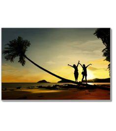 sunset 24x36 giclee canvas print $100 free shipping  #beach #beachbody #beachin #sun #sunset #sundayfunday #sunrise #fun #happy #summer #warm #relaxing #vacation #paradise #painting #landscape #art #landscapepainting #girls #bestfriends #girlfriends