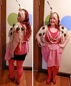 Adult spaghetti and meatballs costume home made costumes things i adult spaghetti and meatballs costume home made costumes things i find funny pinterest costumes halloween costumes and holidays solutioingenieria Image collections