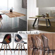 Abbina tavolo e sedie