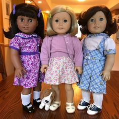 Kit looks so cute! Melody looks awesome in purple. And Lindsey looks like a linebacker in that dress!  #agdollphotography #agdollcollector #agdoll #aggirl #agoty #lindseybergman #kitkittredge #melodyellison