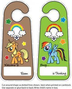 {free} printable My Little Pony Door Hangers
