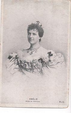 Vintage Postcard Princess Amélie of Orléans Queen of Portugal   eBay