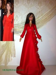 Celebrity Barbie outfit red dress and matches shoes