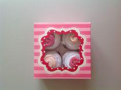 Boîte Cupcake body cadeau de naissance : Mode Bébé par lespetitscadeauxdecat