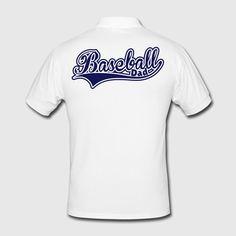 Baseball Dad Swoosh Men's Polo Shirt