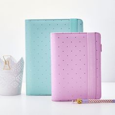 Love Planner! Perfect planner for Spring!  Mint and Lilac Comes with inserts  8 Mint colored tab dividers  Small ruler  Translucent divider and Multiple Pockets Width: 180mm Height: 230mm  Other