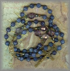 """""""sLEC.2043 - AMETHYST MELLON BEADS - vintage - rosary - (24 in.)"""""""