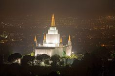 """""""When He comes, I so want to be caught living the gospel. I want to be surprised right in the act of spreading the faith and doing something good.""""  """"The Call to Be Christlike,"""" by Jeffrey R. Holland, (Oakland California Temple in the fog), Ensign, Jun. 2014"""