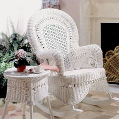 This beautiful Victorian style wicker set features rolled wicker arms and honeycomb backrests and is accented with fanciful scrolls and ball detailing.