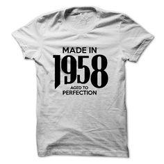 Made In 1958 - Tshirt And Hoodie - Black And White Colo T Shirt, Hoodie, Sweatshirt