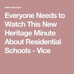 In honour of National Aboriginal Day, Historica Canada updated the hokey historical video series with an honest, emotional look at residential schools. National Aboriginal Day, Aboriginal History, Native American Movies, Residential Schools, Watch, News, Culture, Clock, Wrist Watches